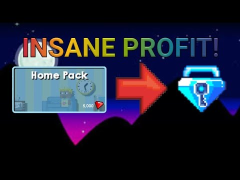 INSANE PROFIT With Home Pack! - Growtopia