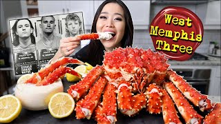 ENTIRE KING CRAB + LEGS with CREAMY ALFREDO SAUCE MUKBANG 먹방| Eating Show