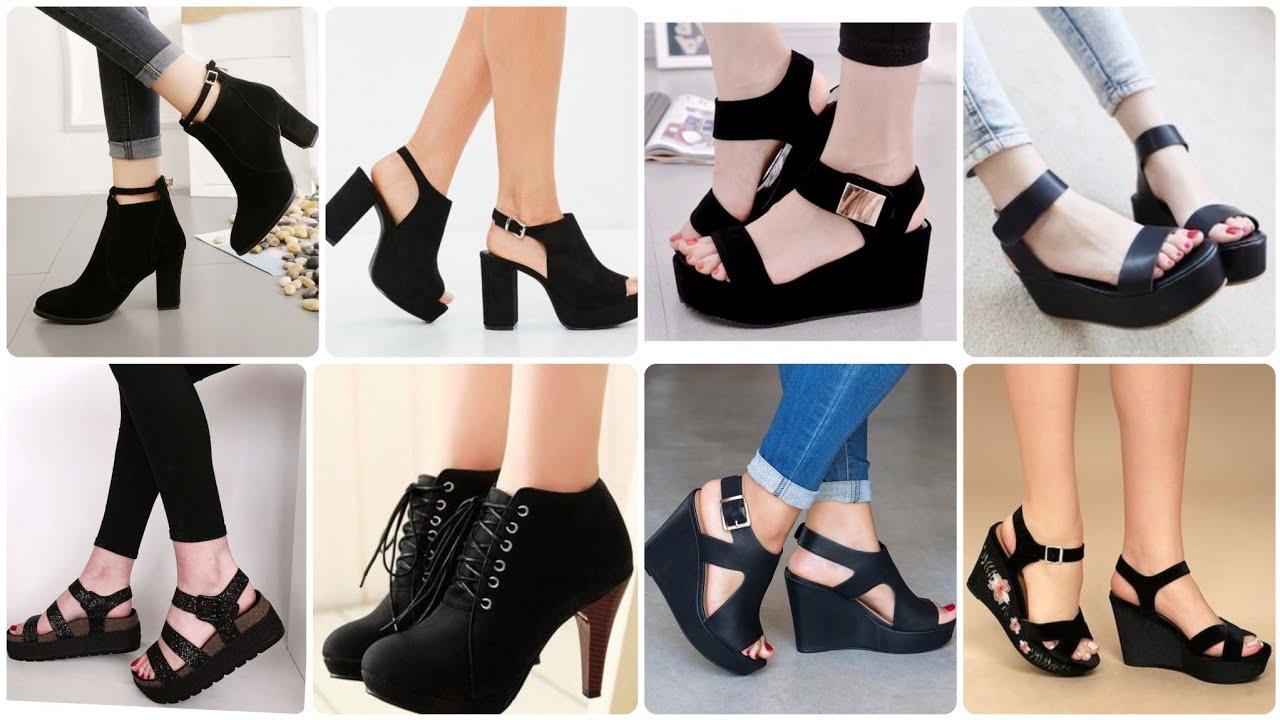 Stylish New Pure Black Colour Sandals