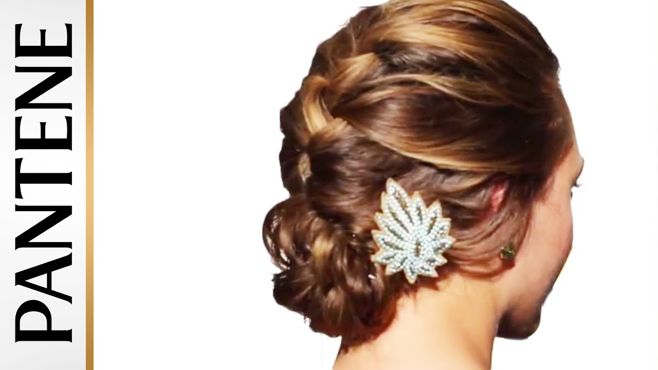 French Braid Into Messy Bun Updo Hairstyles For Long Hair YouTube