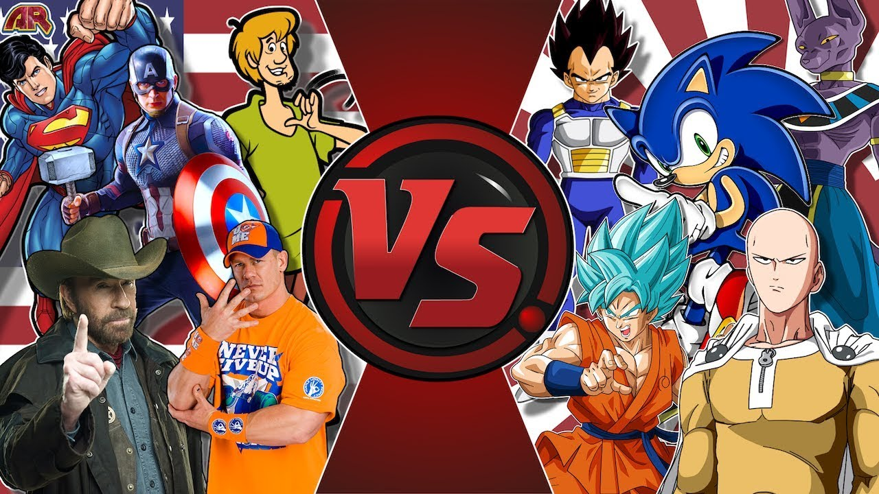 AMERICA vs JAPAN! (Captain America, Superman vs Goku, Saitama, Sonic &  More!) AnimationRewind
