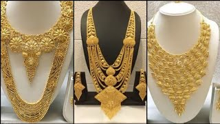 22k Gold Heavy Weight Dubai Jewellery Collection /Complete Bridals Jewellery Collection