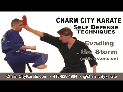 Evading The Storm with extension - Kenpo self defense for an overhead stick attack
