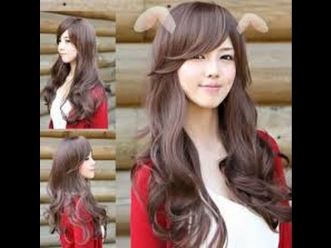 15 Model rambut keriting gantung panjang untuk wajah bulat ...