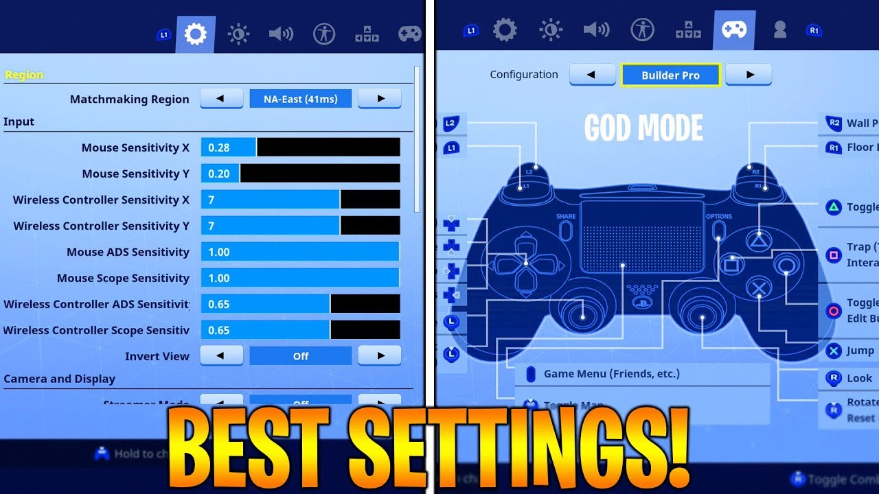 BEST FORTNITE CONSOLE SETTINGS PS4/XBOX SEASON 5! FORTNITE ...