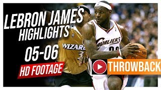 LeBron James THROWBACK 2005-2006 Cavaliers Season Highlights ᴴᴰ || 31.4 PPG, Young King!