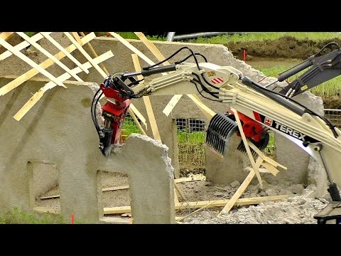 INCREDIBLE RC DEMOLITION WORK OF THE RC CONSTRUCTION SITE WITH FANTASTIC MODEL MACHINES