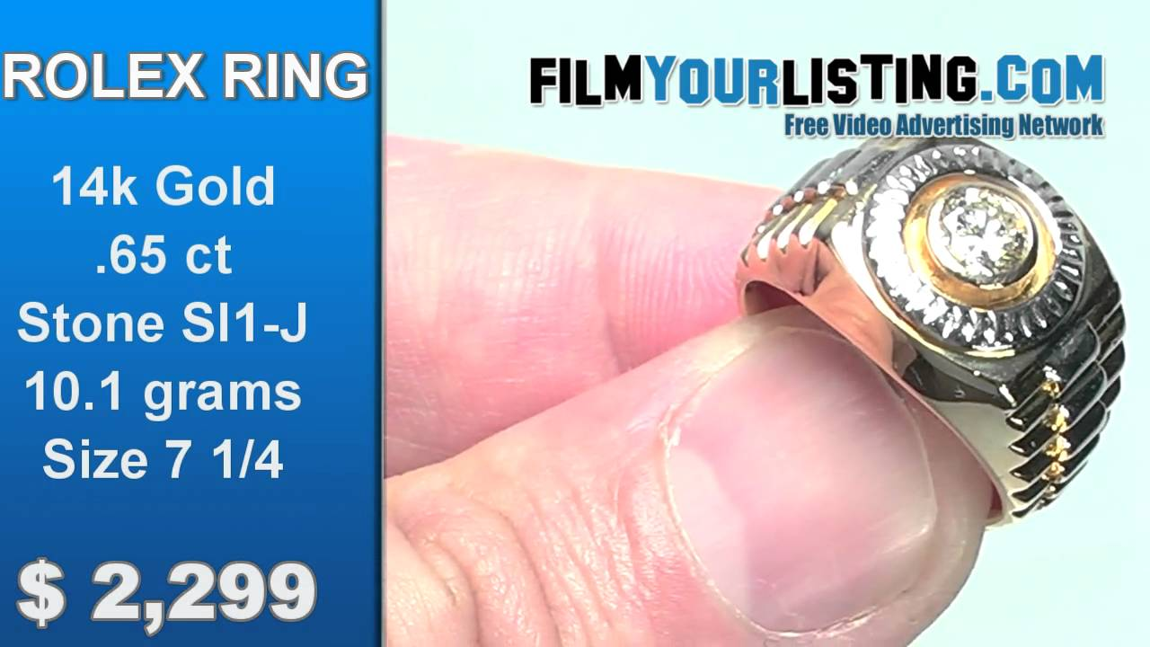 Rolex Diamond Ring for sale - YouTube