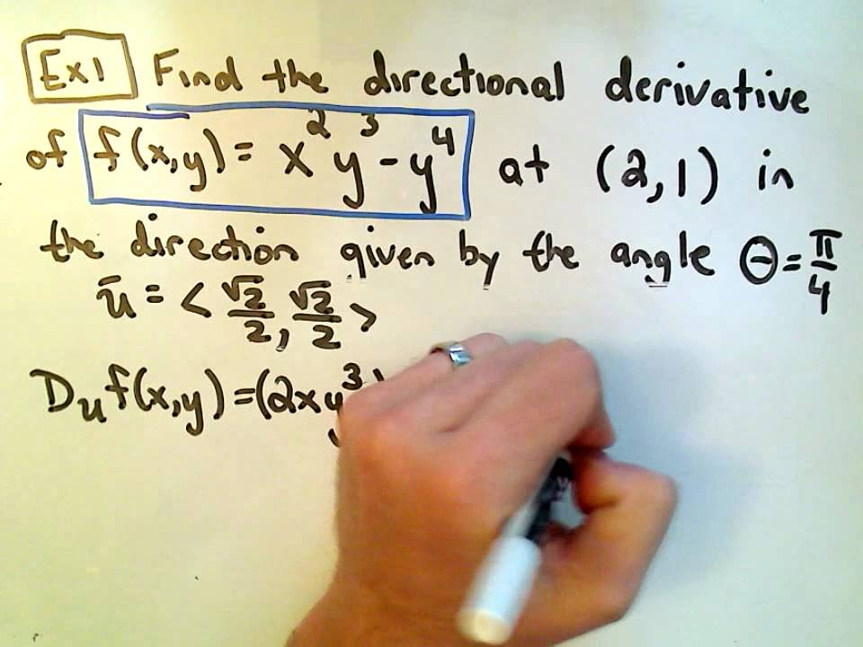 Finding The Directional Derivative Youtube