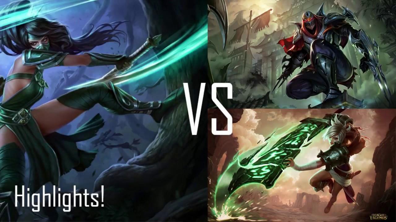 Akali vs Zed - Akali vs Riven - Highlights #5