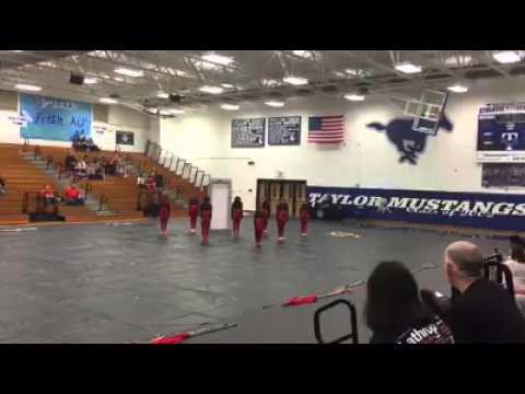 Klein Forest High School winterguard  3-12-16