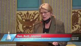 Sen. Johnson addresses the Senate on SR 25 and HR 1