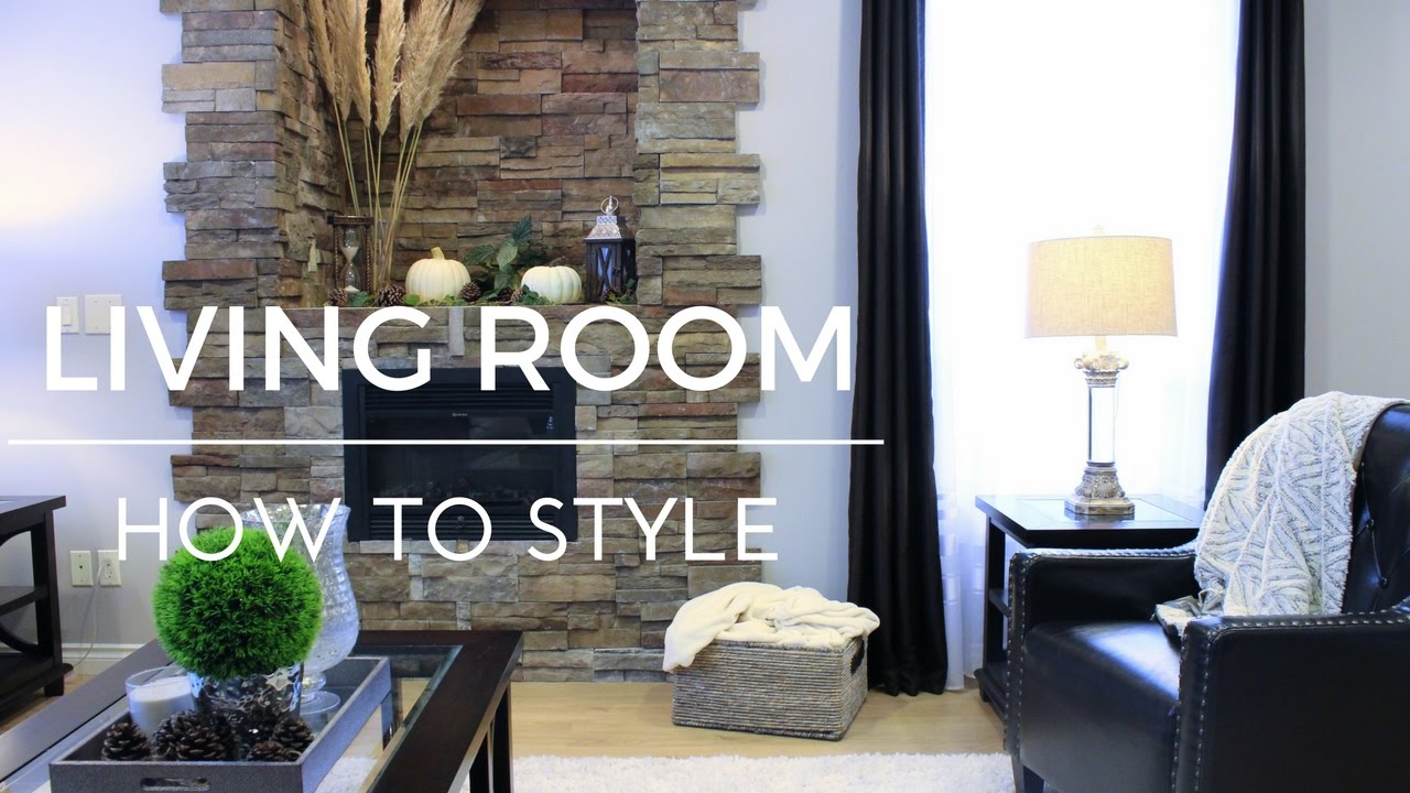 HOW TO DECORATE A LIVING ROOM - YouTube