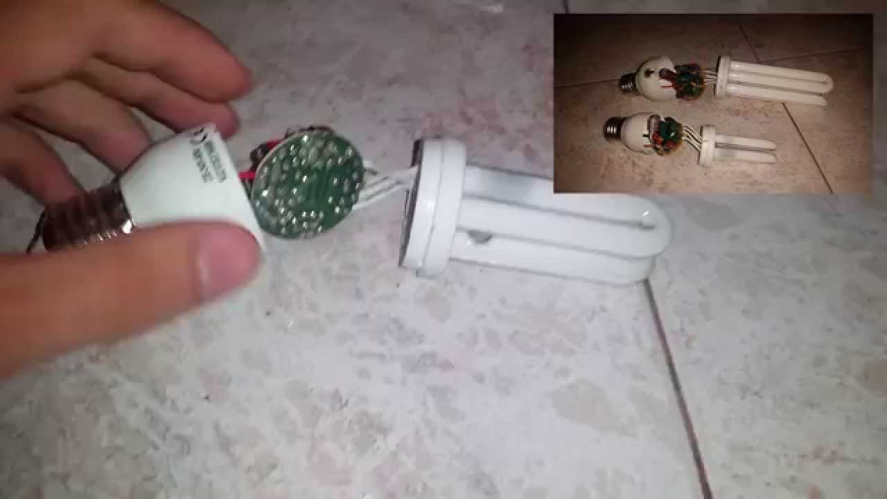 Cosa cè dentro una lampada a risparmio energetico e cosa riciclare! - Vi...