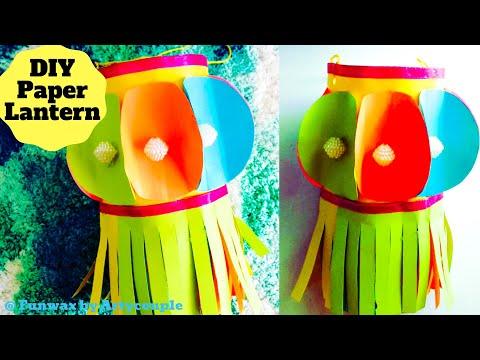 DIY Diwali Paper Lantern making tutorial   Akash Kandil making   Diwali decoration ideas for home