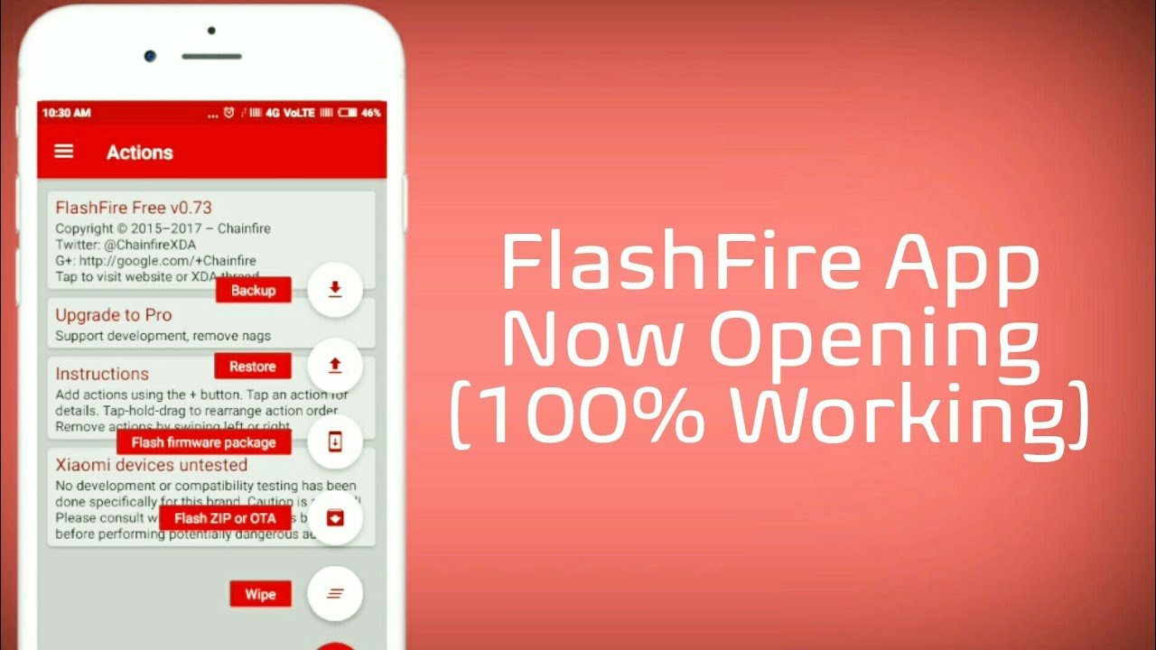 FlashFire App Can't Opening, How To Fix?
