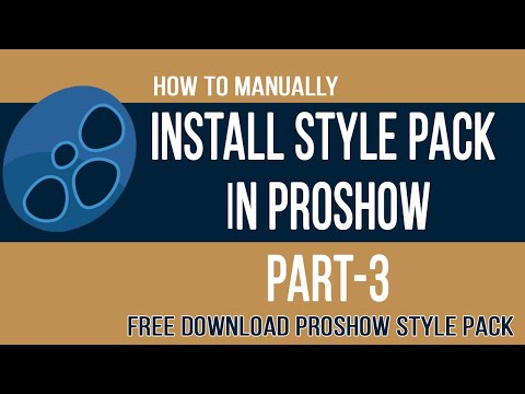 How to manually install style pack in proshow producer free.