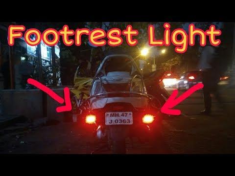 Footrest Light installation in Honda Activa 3g by Creative modification