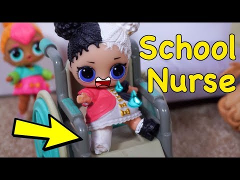 LOL SURPRISE DOLLS Harper Goes To School Nurse!