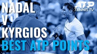 Rafael Nadal vs Nick Kyrgios: Best ATP Shots & Rallies (So Far)