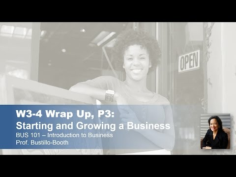 BUS 101 - Introduction to Business: Wrap-Up - Weeks 3-4, Part 3