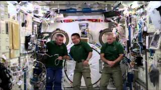 Space Station Crew Discusses Life in Space with the Japanese Prime Minister