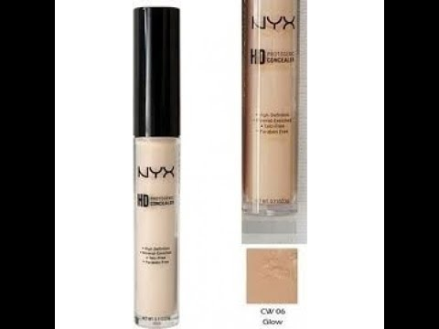 REVIEW: NYX HD Concealer Wand Color Glow (6) - YouTube