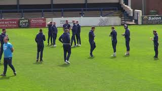 City players arrive at Gainsborough Trinity
