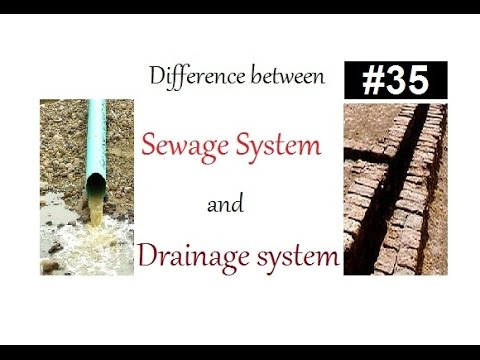 Difference between sewage system or drainage system in Urdu/Hindi