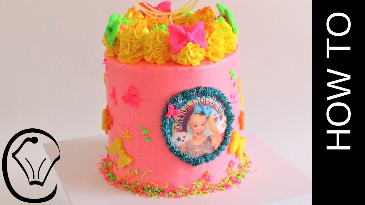 Jojo Bow Siwa Birthday Cake Including Cake And Baking