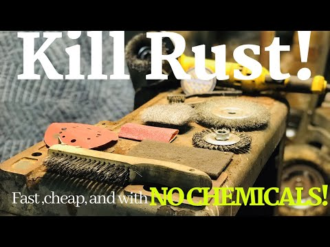 How To Get Rid of Rust Without Chemicals | Mechanical Rust Removal | Easy Rust Remove W/ Basic Tools