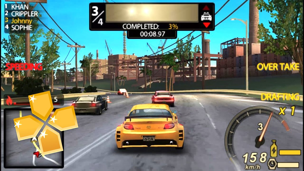 Need For Speed Undercover PPSSPP Gameplay Full HD / 60FPS