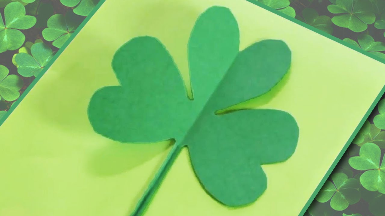 How To Make A Paper Shamrockclover Youtube