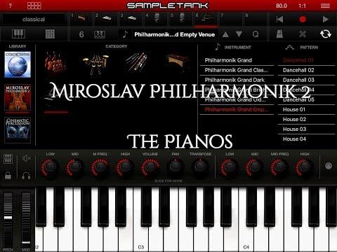 SAMPLETANK - Miroslav Philharmonik 2 - The PIANOS Demo for the iPad