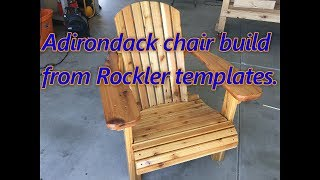 Decided to build a cedar Adirondack chair from the Rockler templates. I was inspired by April Wilkersons build. Check out her