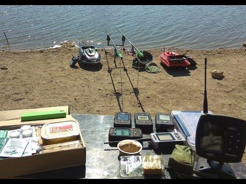 Завоз снастей прикормочным корабликом  ARM-FISHING Протей и Дельфин2