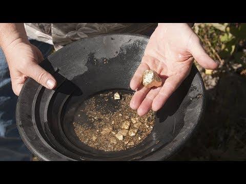 Gold Panning At Gold Creek From Juneau, Alaska