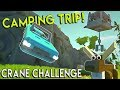 CAMPING TRIP GONE WRONG! - Scrap Mechanic Multiplayer - Hover Crane Build Challenge