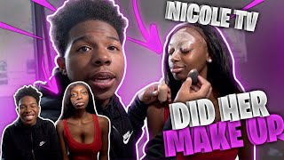 I DID NICOLE TV MAKEUP AND WENT TO GET HER A MAN!