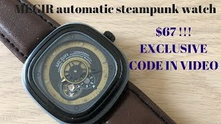Megir M3012 Automatic Steampunk Watch Only $67 - Full Review