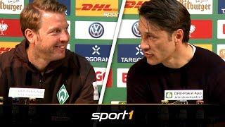 """""""Dumm angestellt"""" Kovac und Kohfeldt im hitzigen Elfmeter-Clinch   SPORT1"""