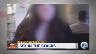 police search for woman performing sex acts in public