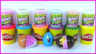 Spongebob My Little Pony Play Doh Surprise Eggs Toys Clay SLIME Learn Colors