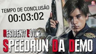 RESIDENT EVIL 2 REMAKE - SPEEDRUN DA DEMO - 00:03:02 (Record Mundial no PS4)