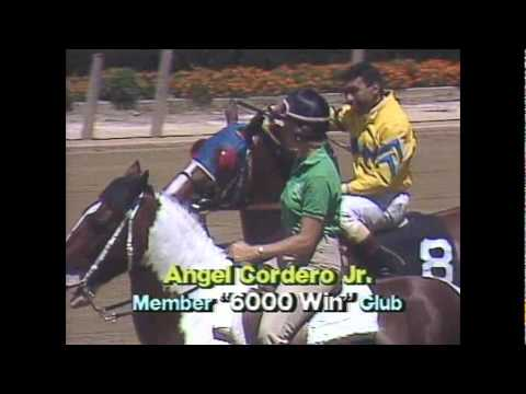 Angel Cordero Jr En Belmont Park 1987 Youtube