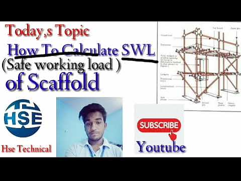 How to calculate SWL of scaffold || Hse Technical||