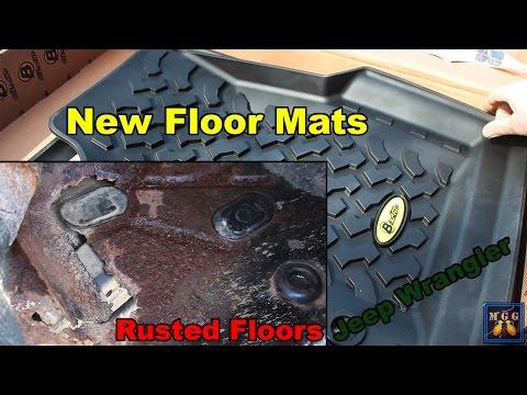 Jeep Wrangler TJ Rusty Floor Pans and New Bestop Floor Mats