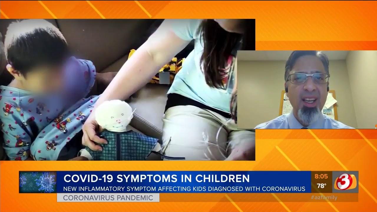 What are the symptoms of coronavirus in kids?