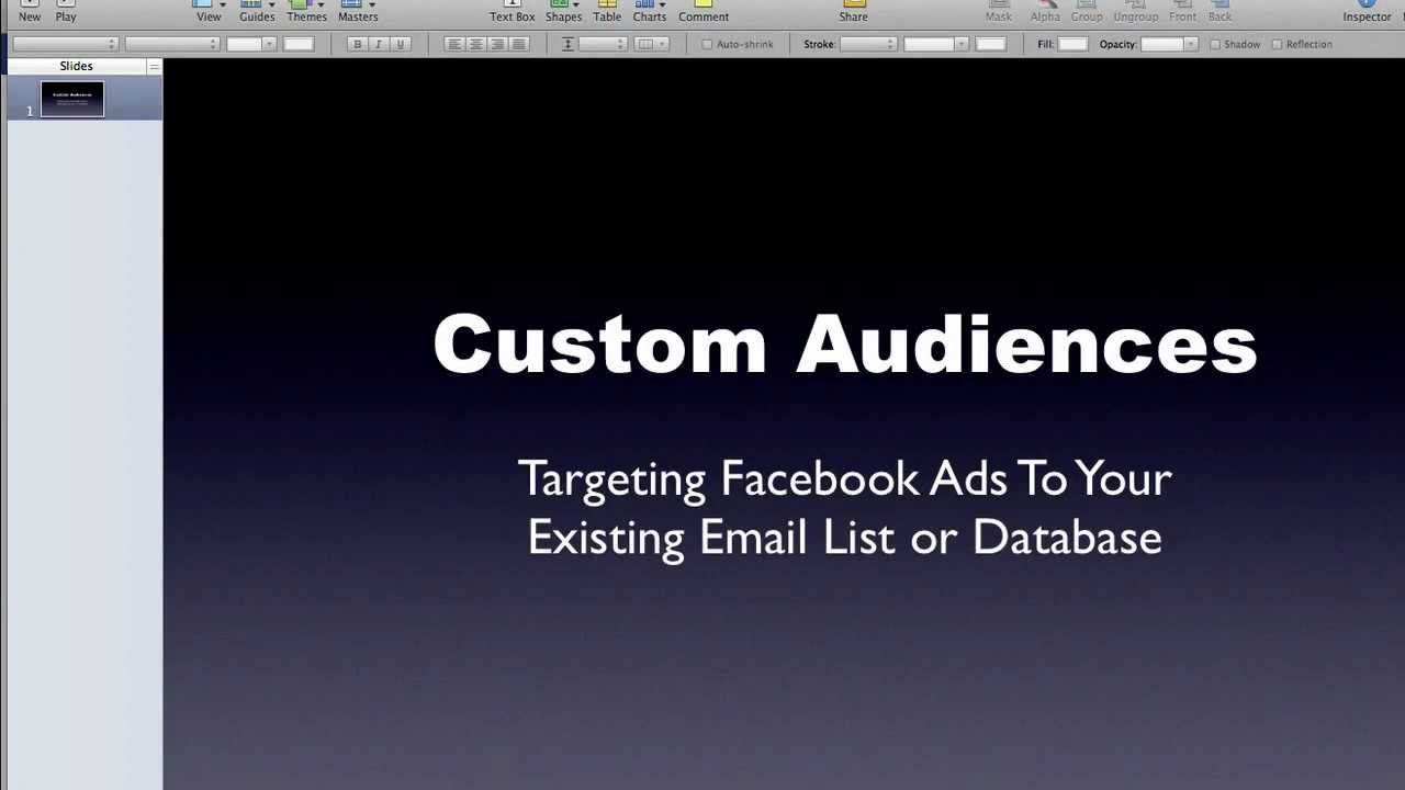 how to change the custom list on facebook