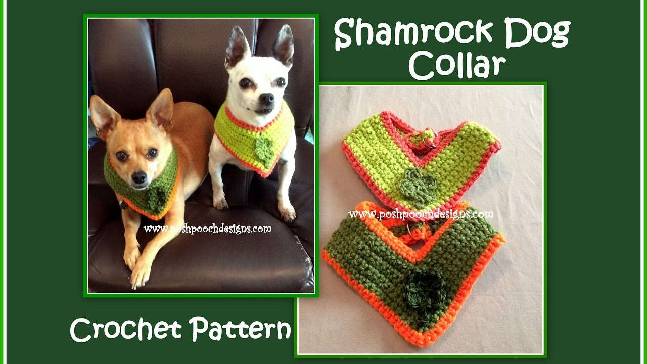 Shamrock Dog Collar Crochet Pattern Youtube